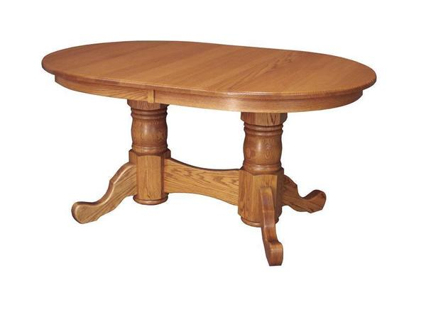 Amish Custom Double Pedestal Dining Table
