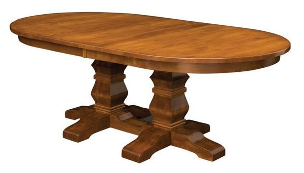 Amish Bloomington Double Pedestal Dining Table