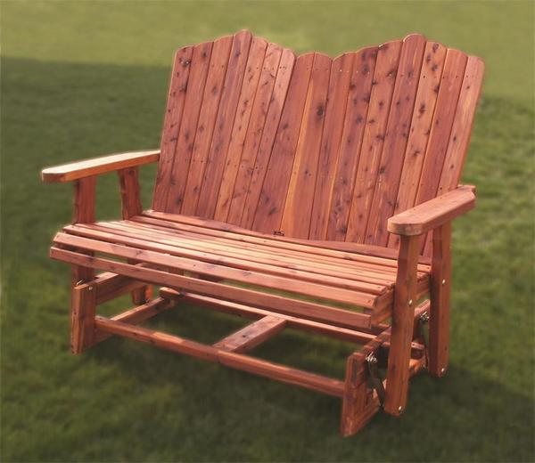 Amish Outdoor Wood Glider