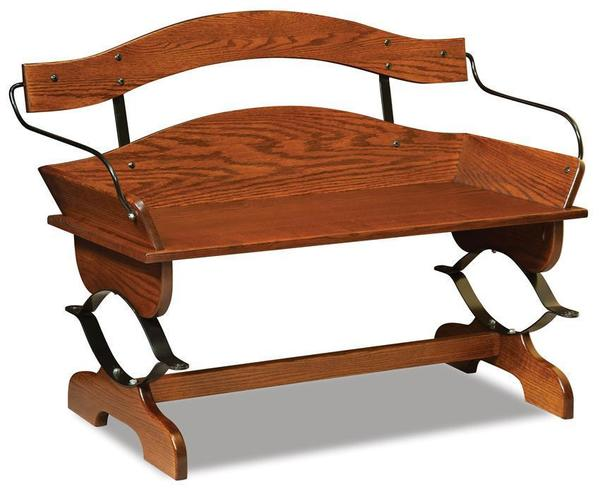 Pleasant Amish Buckboard Solid Wood Entryway Bench Inzonedesignstudio Interior Chair Design Inzonedesignstudiocom
