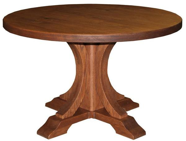 Sienna Solid Top Pedestal Dining Table by Keystone