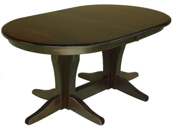Amish Vintage Double Pedestal Table