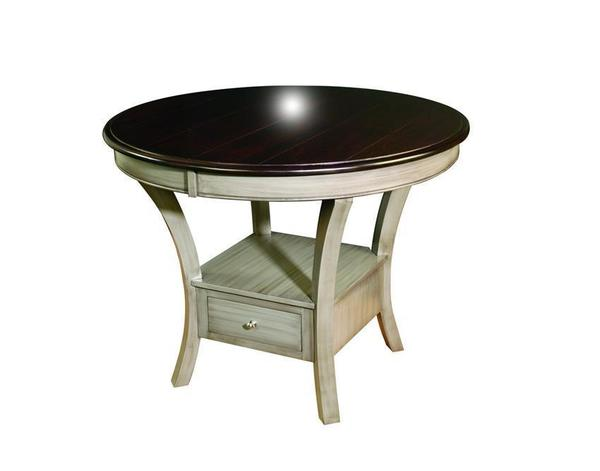 Amish Ensenada Single Pedestal Cabinet Table