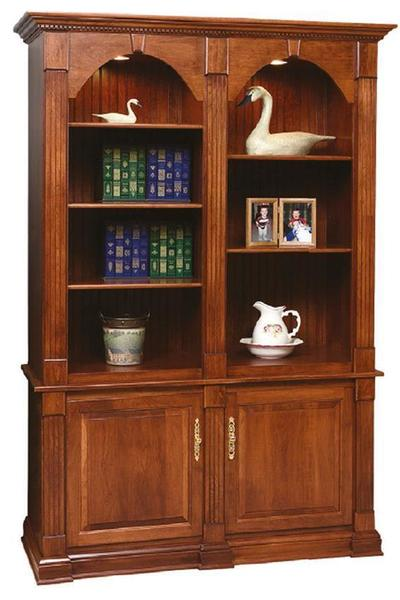 Amish Twin Crescent Moon Bookcase