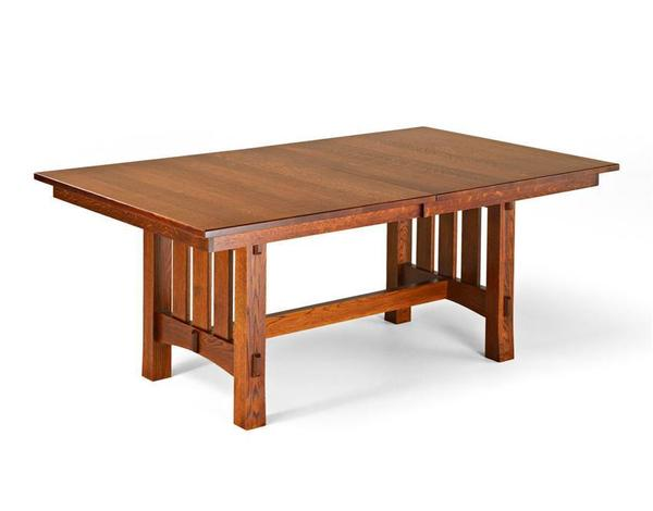 Trestle Dining Table Mission Style From Dutchcrafters Amish