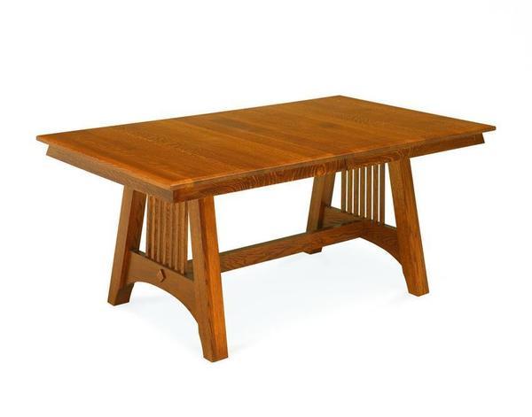 Amish Hartford Mission Trestle Table