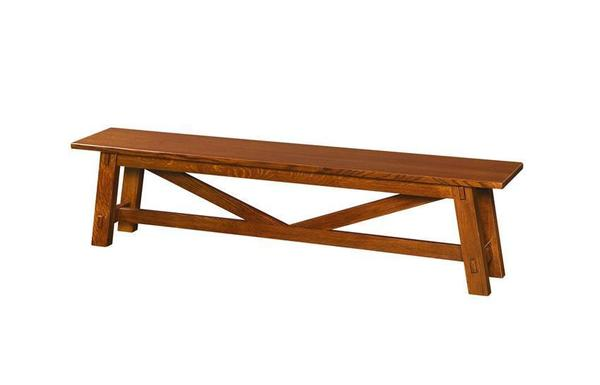 Amish Manitoba Trestle Dining Bench
