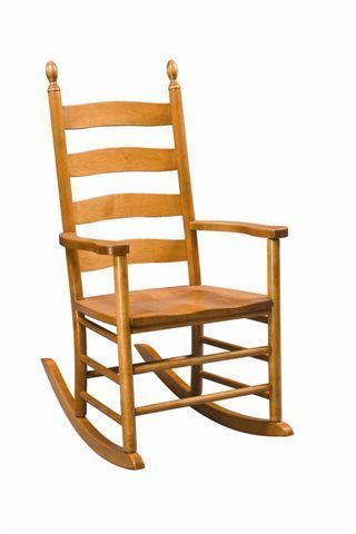 Amish Galloway Shaker Ladderback Rocker