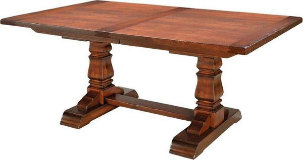 Amish Provincial Cottage Extension Table with Breadboard End