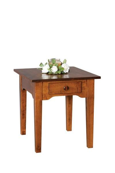 Amish Solid Wood End Table