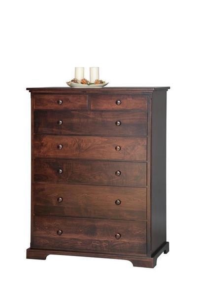 "Amish Solid Wood 40"" Chest of Drawers"