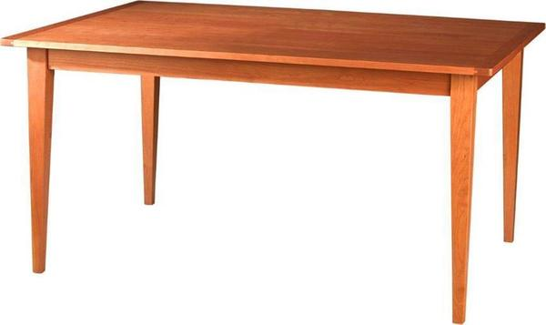 Amish Edinburgh Solid Top Dining Table with Breadboard End