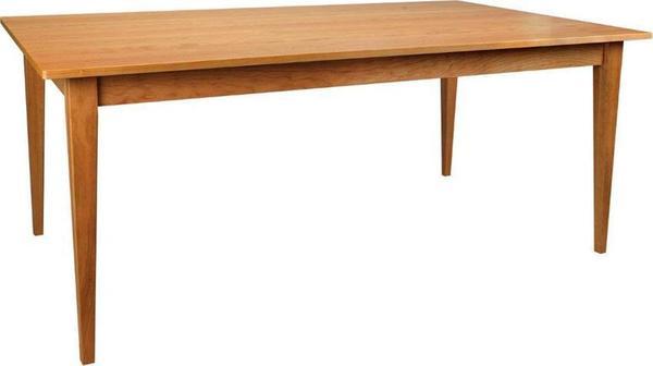Amish Edinburgh Solid Top Leg Dining Table