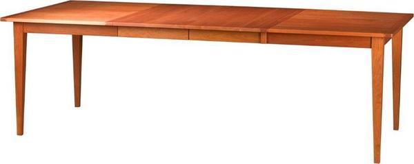 Amish Edinburgh Extension Leg Table with Breadboard End