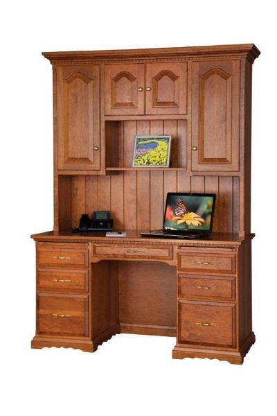 "Amish 55"" Computer Desk with Hutch"