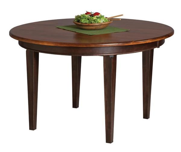 solid wood 48 round dining table from dutchcrafters amish furniture. Black Bedroom Furniture Sets. Home Design Ideas