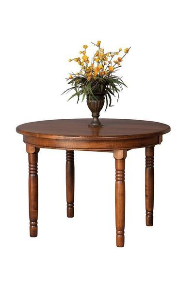 Round Farmhouse Leg Table From DutchCrafters Amish Furniture - Round farm table with leaf