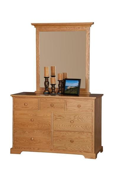 "Amish 50"" Dresser With Optional Mirror"