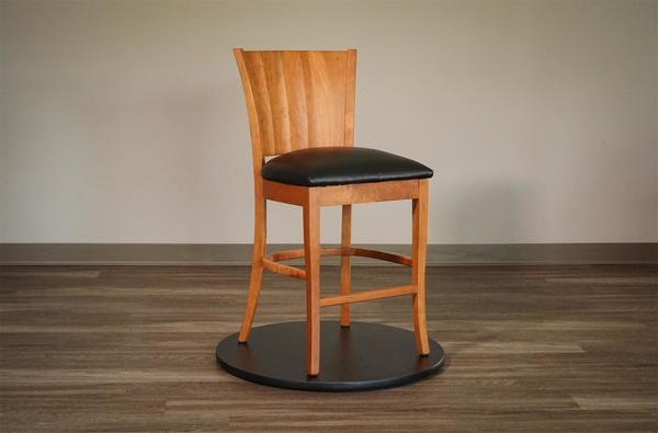Amish Ripple Back Bar Stool