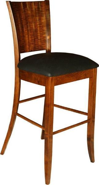 Amish Ripple Back Bar Stool