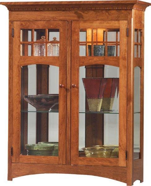 Amish Santa Fe Mission Short 2-Door Curio Cabinet