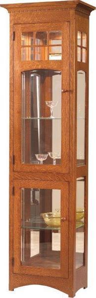 Amish Santa Fe Tall 2-Door Curio Cabinet