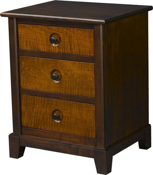 Amish Chesapeaka Three-Drawer Nightstand