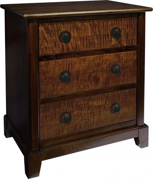 Amish Chesapeaka 3-Drawer Bedside Chest Night Stand