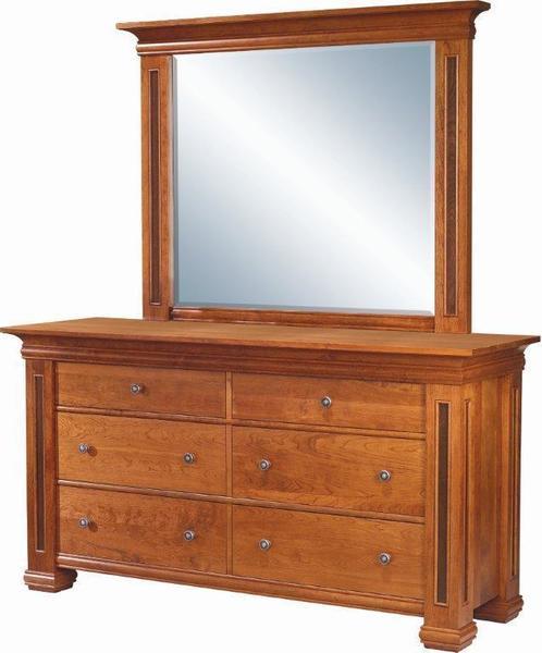 Amish Timber Ridge 6-Drawer Dresser with Optional Mirror