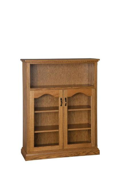 Amish Wood Bookcase with Doors