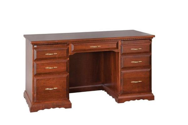 Amish Double Pedestal Flat Top Desk