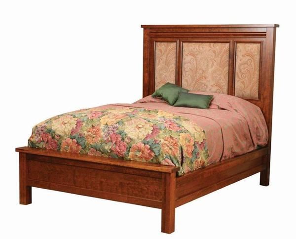 Amish Pittsburg Bed with Fabric Panels