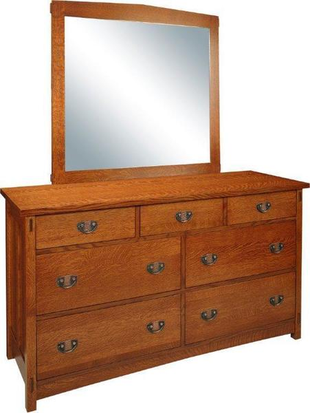 Amish Lake Champlain 7-Drawer Dresser with Optional Mirror
