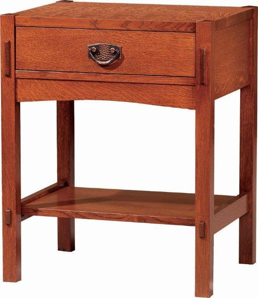 Amish Post Mission One-Drawer Nightstand