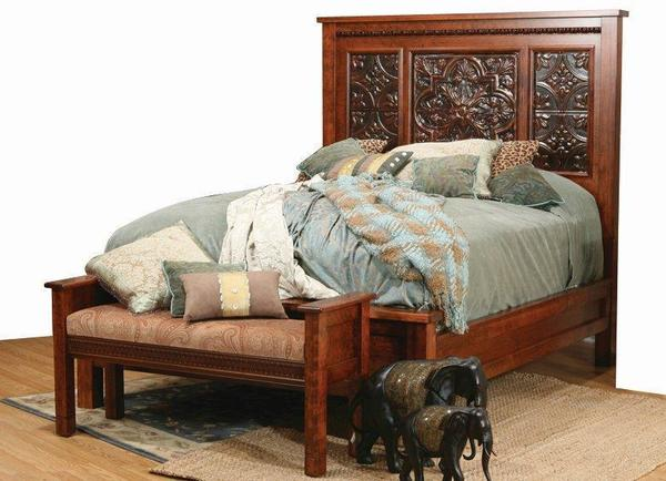 Amish Pittsburg Bed with Tin Panels