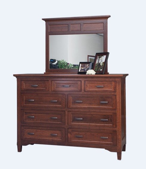 "Amish Lexington 46"" High Dresser with Optional Mirror"