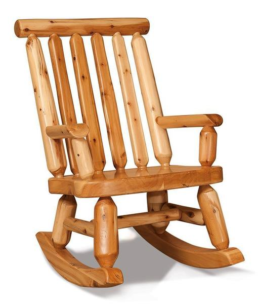 Amish Log Papa Bear Rocker