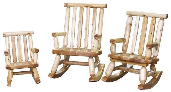 Amish Papa, Mama and Baby Bear Rocking Chair Set