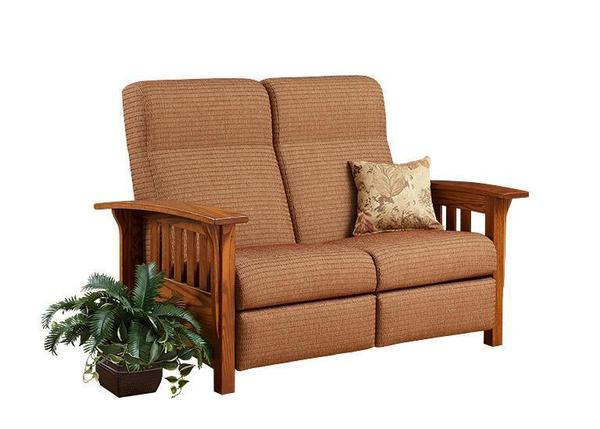 Amish American Mission Reclining Loveseat