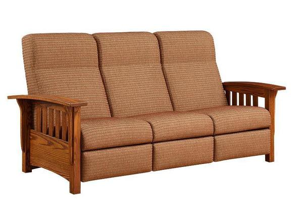 Amish 3 Seater American Mission Reclining Sofa