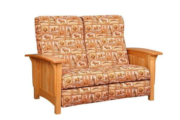 Amish Paneled Mission Recliner Loveseat Sofa