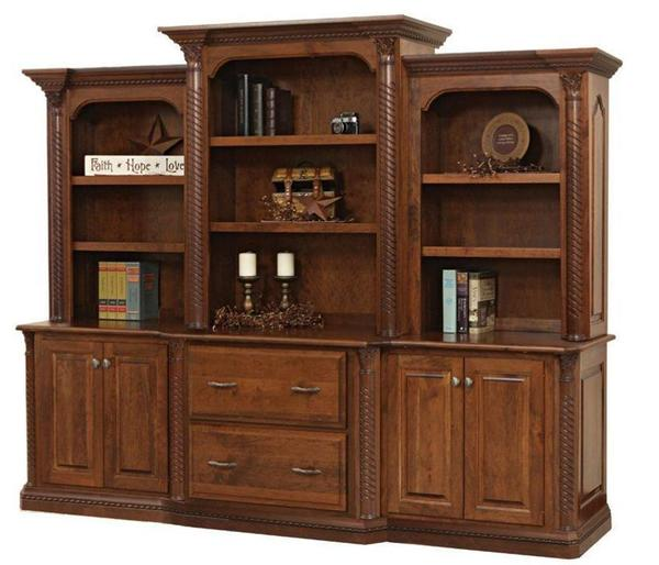 Amish Lexington Credenza with Optional Bookcase Top