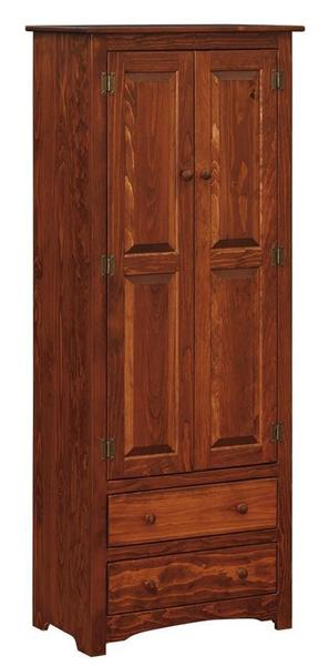Amish Pine Linen Cabinet Armoire