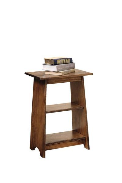 Amish Pine Open Shelf End Table