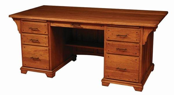 Amish Bentley Office Deluxe Executive Desk