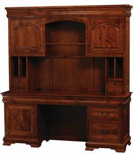 Amish Sault Ste Marie Office Credenza Desk and  Hutch Suites