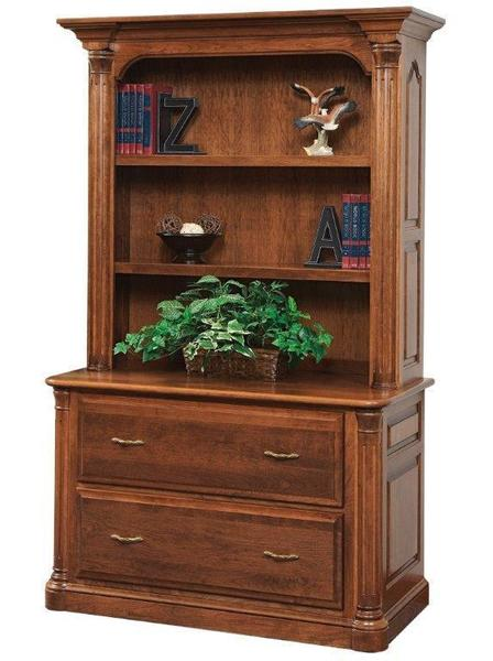 Amish Jefferson Lateral Filing Cabinet with Optional Bookcase Top