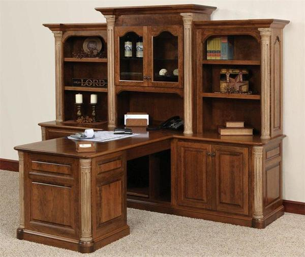 Jefferson Partner Desk With Optional Three Piece Hutch From