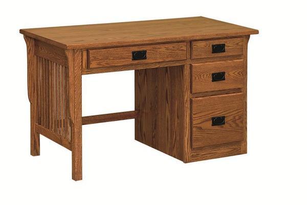 Amish Mission Single Pedestal Desk