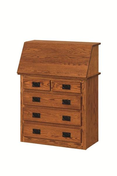 Amish Arts and Crafts Secretary Desk with Drawers